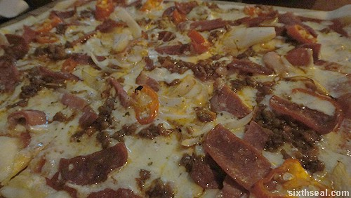 barcelona pizza closeup