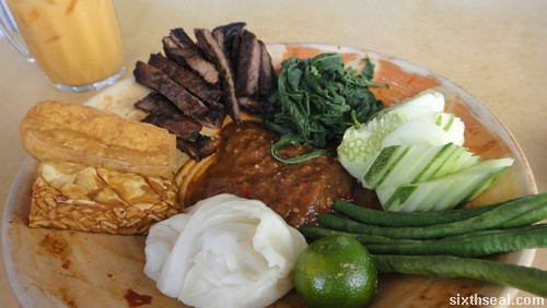 nasi lalapan beef