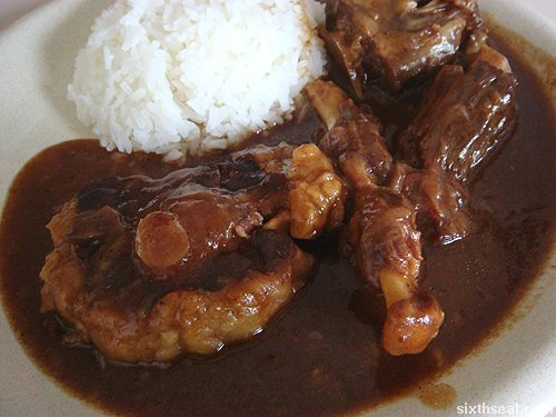 Oxtail Stew and Rice
