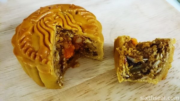 Chewy Nutty Cranberry Mooncake