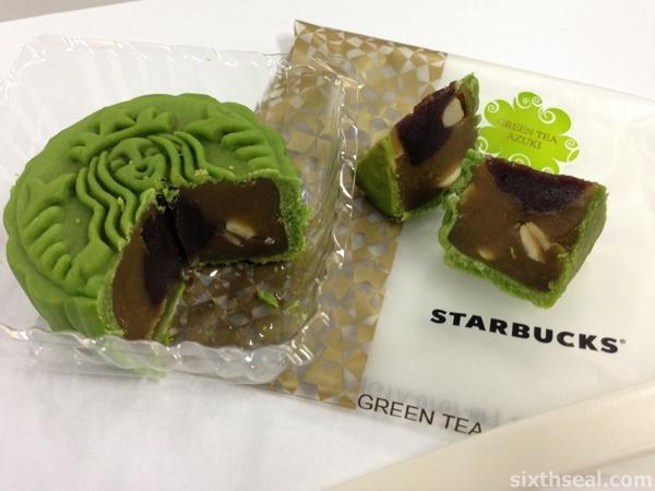 Starbucks Green Tea Azuki Mooncake