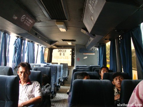 bus inside