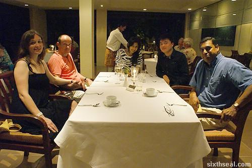 dinner at rhu