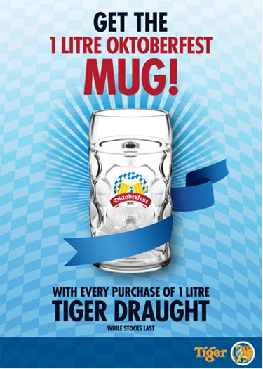 oktoberfest 1 liter mug