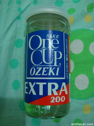 ozeki one cup sake