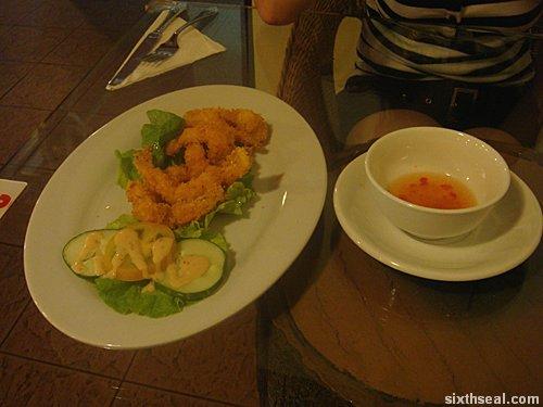 panzer crispy breaded prawns