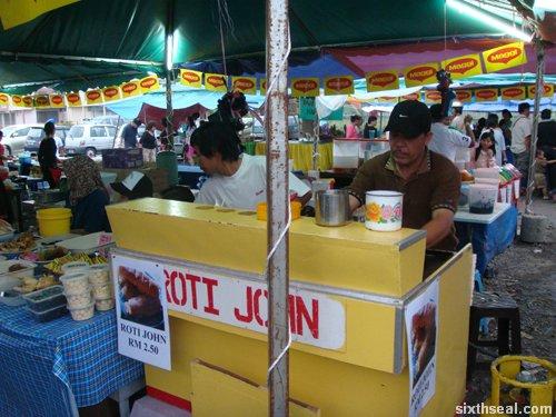 pasar ramadan roti john stall