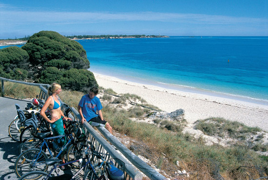 Cycling on Rottnest