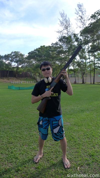 me with shotgun