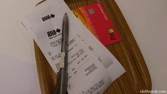 dinner bill