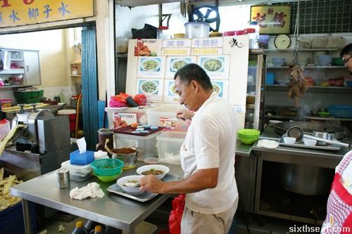 seremban beef noodles stall