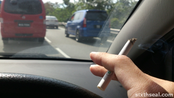 smoking car