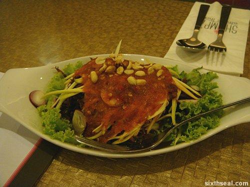 shrimpz crispy duck salad