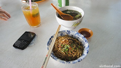 sibu kampua mee with mixed soup
