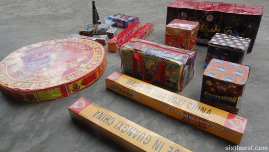 firecrackers for chinese new year