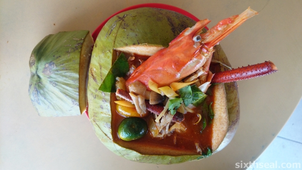 sibu coconut big prawn noodles