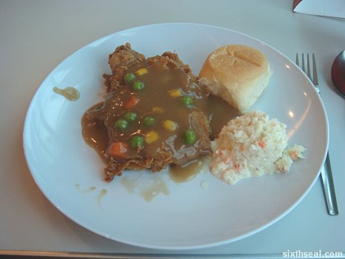 kfc chicken chop gravy