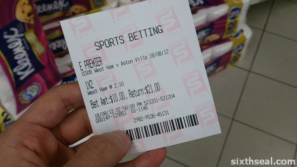 singapore football betting